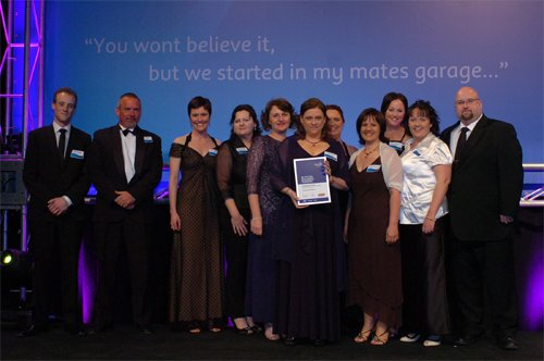 Fax n Figures staff at the 2008 Telstra Small Business Awards.